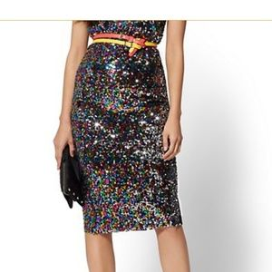 New York and Company Sequin Pencil Skirt